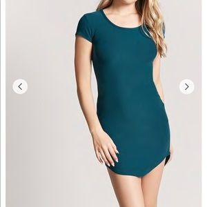 Black Dolphin Hem Mini Dress